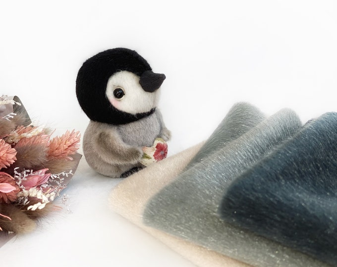 Ninelle Penguin Colors fabric for toys