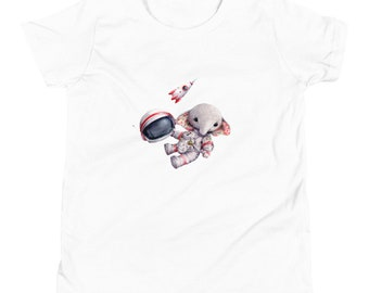 Youth Short Sleeve T-Shirt Elephant Spaceman