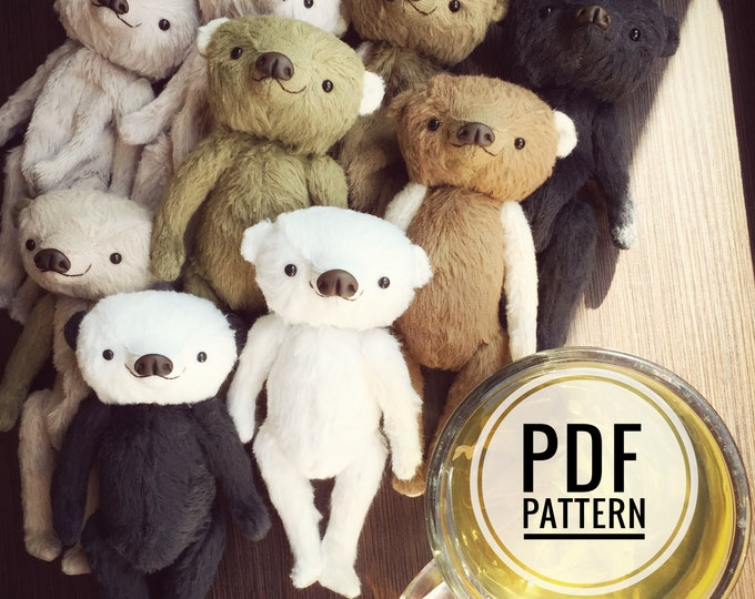 Antique Teddy bear PDF sewing pattern only