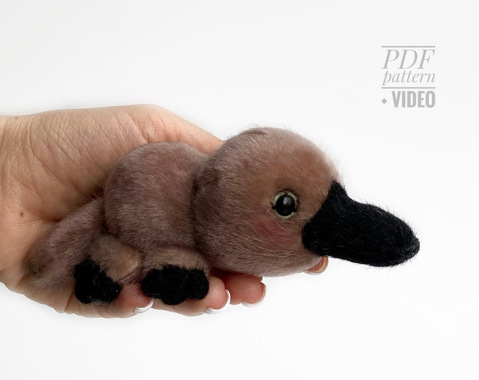 Platypus PDF sewing pattern + Video tutorial