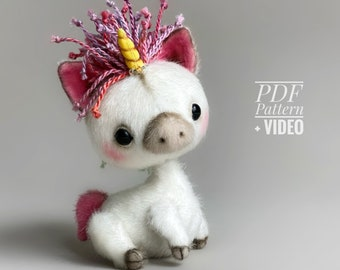 Unicorn PDF sewing pattern + Video tutorial