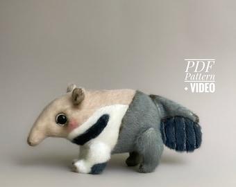Anteater PDF sewing pattern + Video tutorial