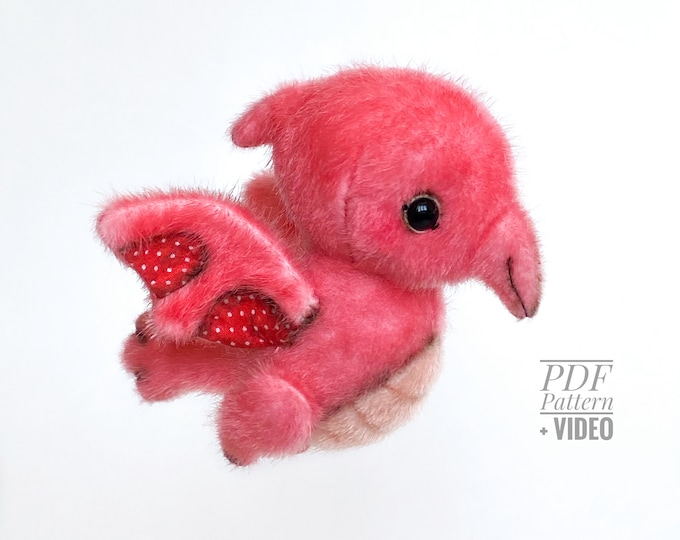 Pterodactyl PDF sewing pattern + Video tutorial