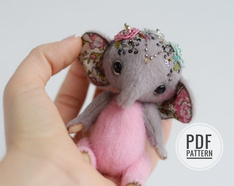 Aisha Elephant PDF sewing pattern