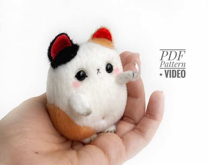 Lucky Cat PDF sewing pattern + Video tutorial
