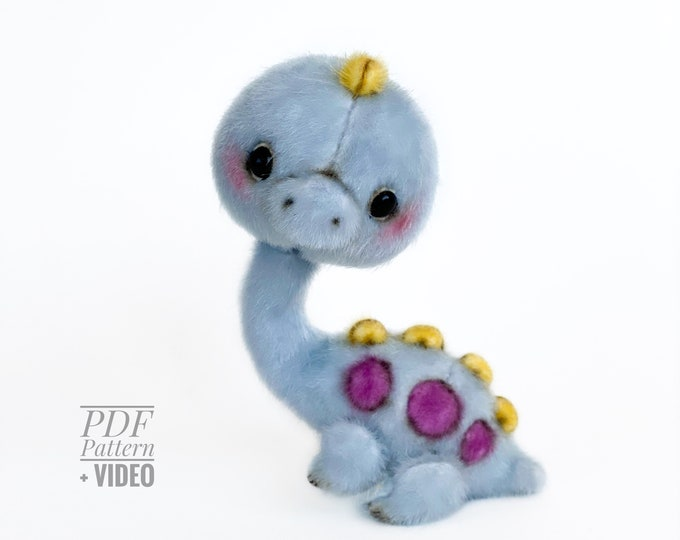 Brontosaurus PDF sewing pattern + Video tutorial