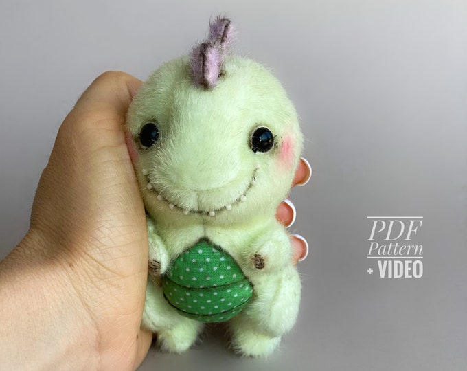 Stegosaurus PDF sewing pattern + Video tutorial