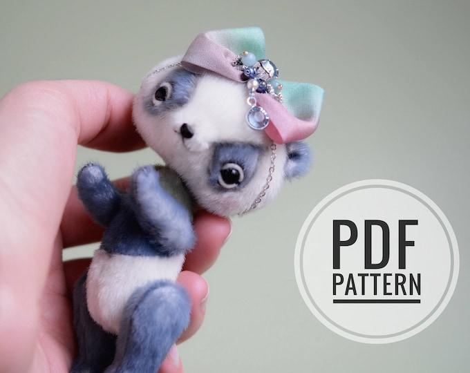 Anime Panda PDF sewing pattern