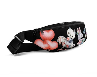 Fanny Pack with Animals black