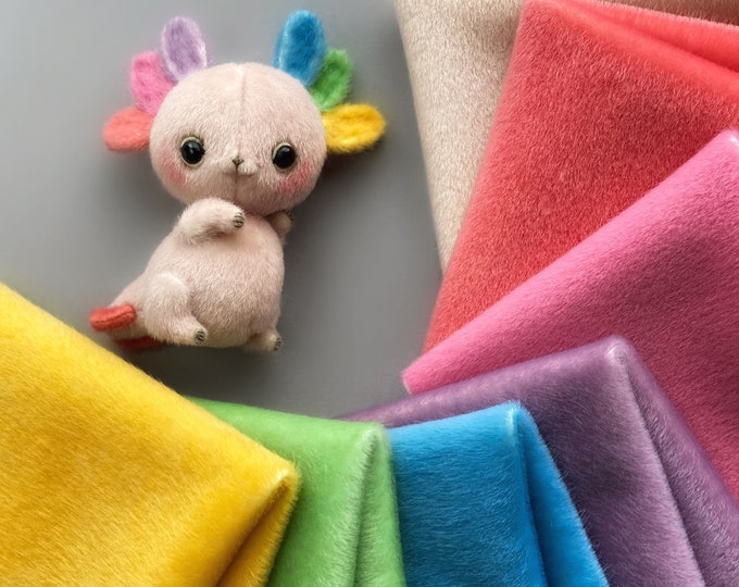Ninelle Axilotl Colors fabric for toys