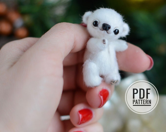 Micro Teddy PDF sewing pattern only