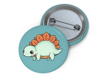 Artist Pin Buttons - Stegosaurus by TSminibears - #13 to collect