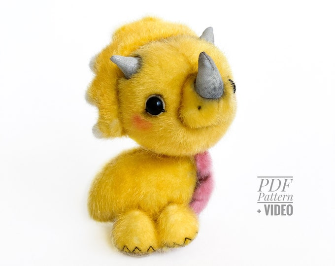 Styracosaurus PDF sewing pattern + Video tutorial