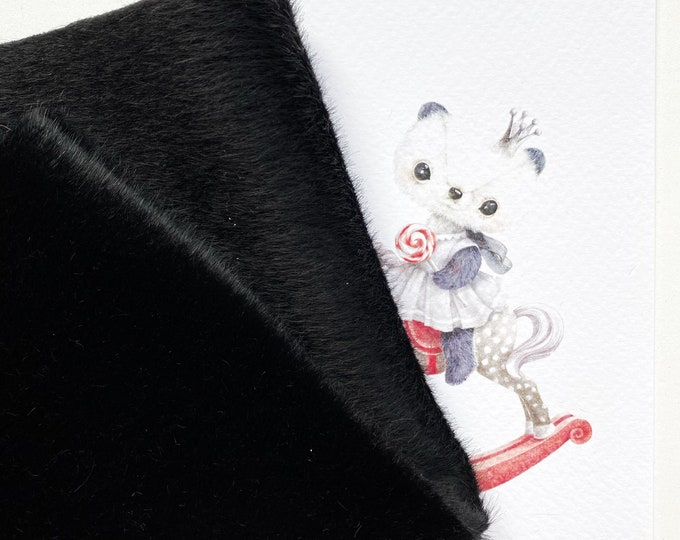 Annabelle BLACK fabric for toys