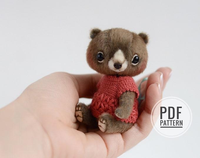 Mason teddy bear PDF sewing pattern only