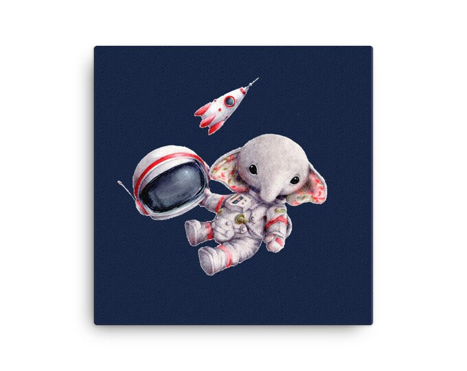 Spaceman Elephant Canvas