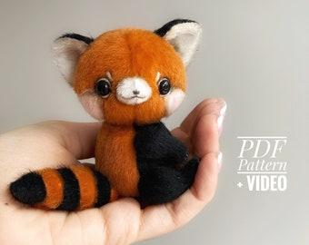 Red Panda PDF sewing pattern + Video