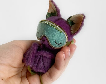 Woody Bat - Artist Miniature Mini toy by TSminibears