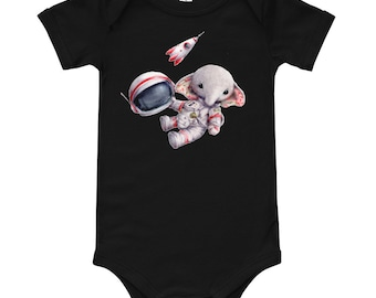 Baby Short Sleeve One Piece - Spaceman Elephant