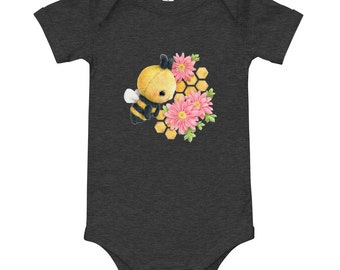 Baby Short Sleeve One Piece - Bee