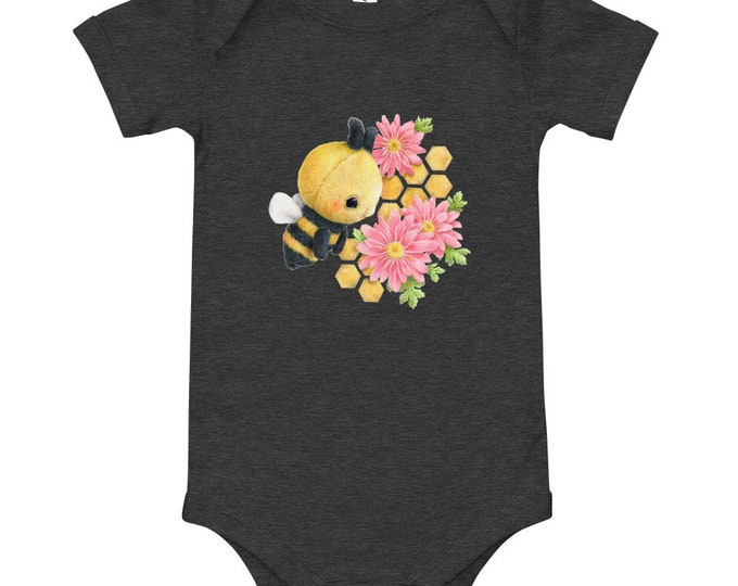 Baby Short Sleeve One Piece - Bee