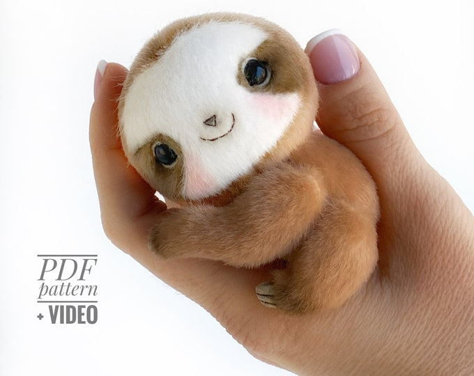 Sloth PDF sewing pattern + Video tutorial