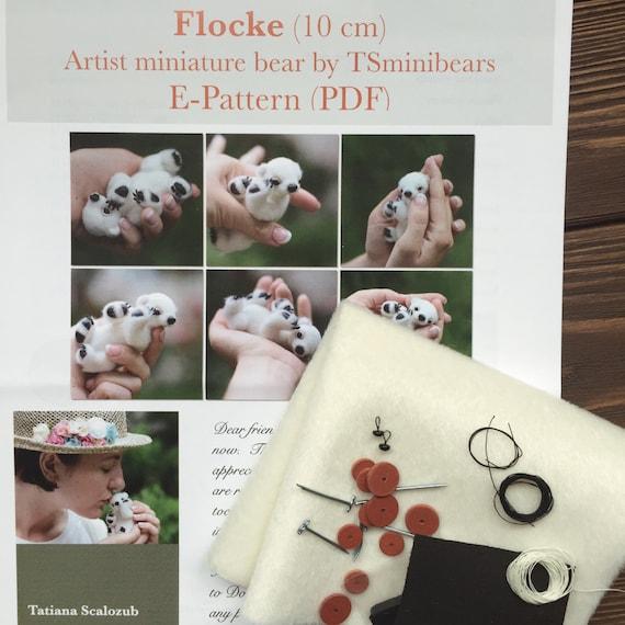 Teddybär Nähen gefüllt KIT Künstler-Miniatur-Muster so dass