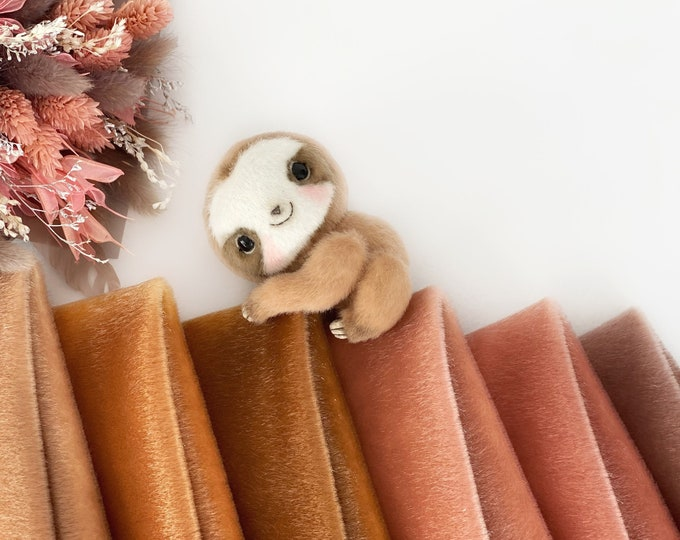 Ninelle Sloth Colors fabric for toys