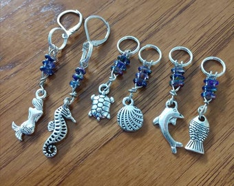Moonlight on the Sea Knitting Stitch Markers