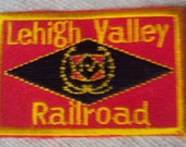 Vintage 1950s Lehigh Valley Railroad Train Travel Patch