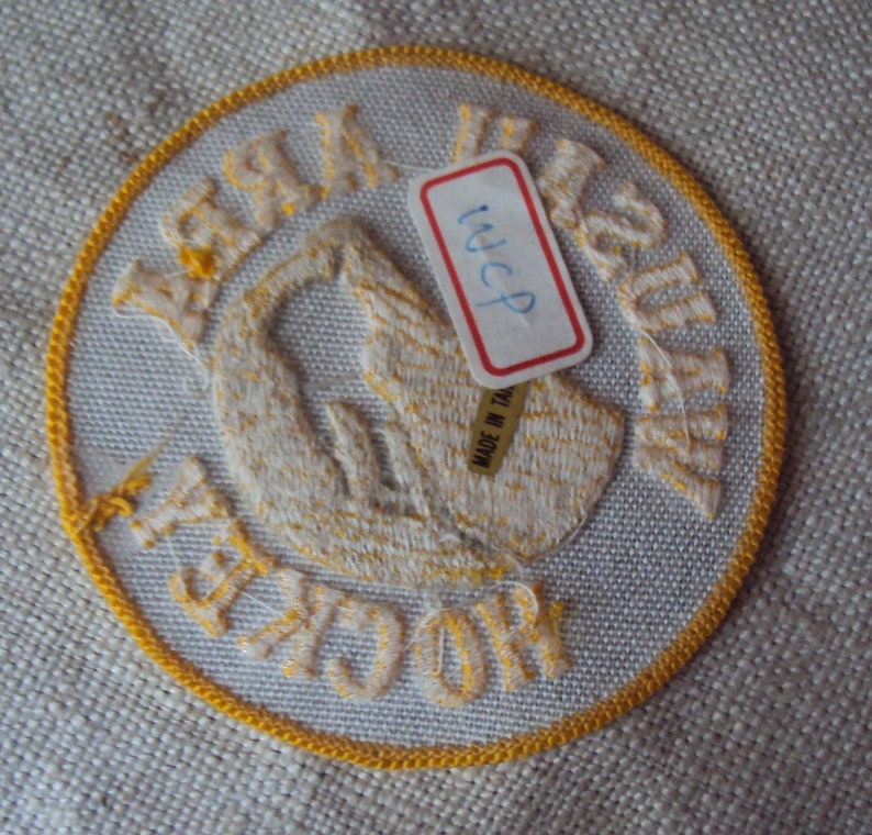 Vintage Wausau Area  Hockey  Sew On Patch River Wolves Wisconsin Ice Hockey