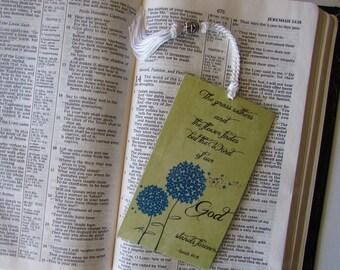 Word of God Bookmark - Religious Scripture Bookmark -  1 Isaiah 40 Bookmark