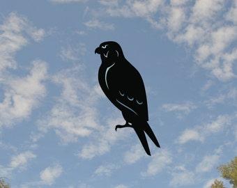 "Falcon Window Silhouette warns the birds 6"" x 11"" static cling"