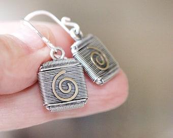 Handmade Sterling Silver Dangle Earrings Gifts For Her