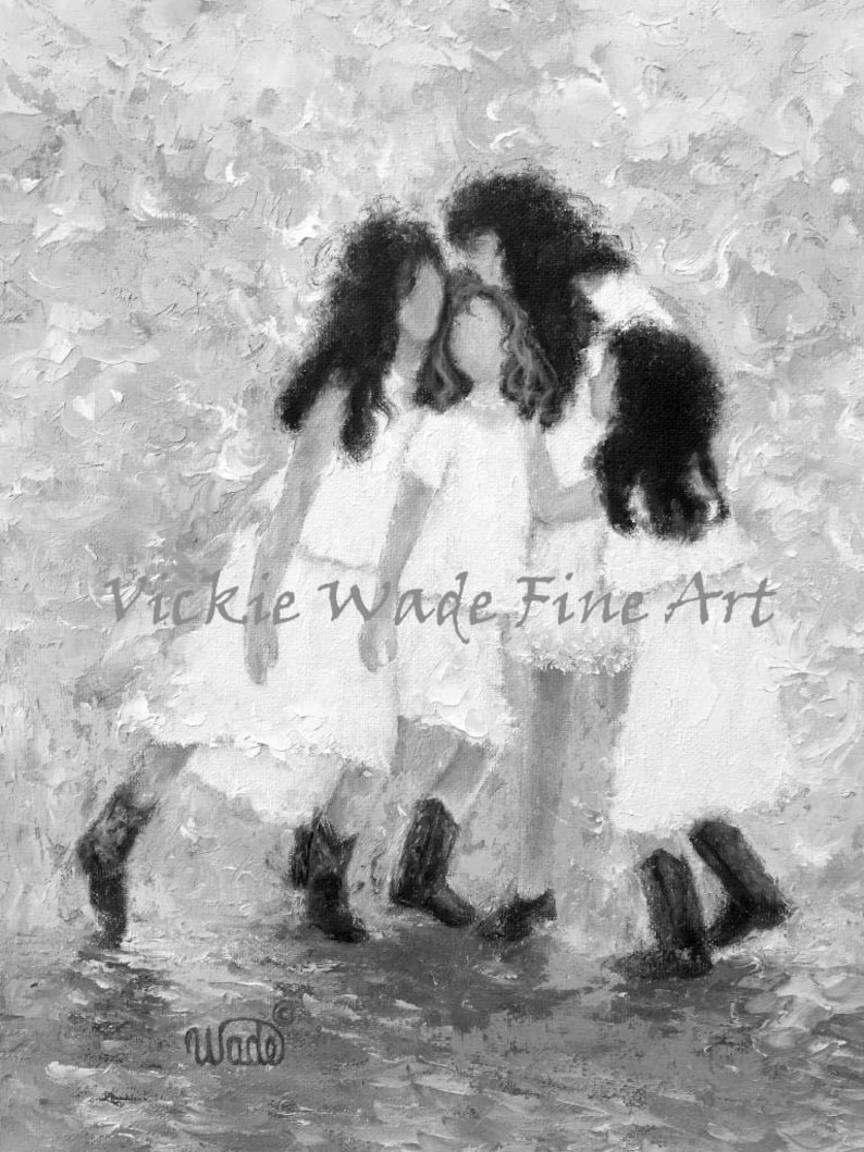 Four Sisters Art Print four girls four daughters image 0
