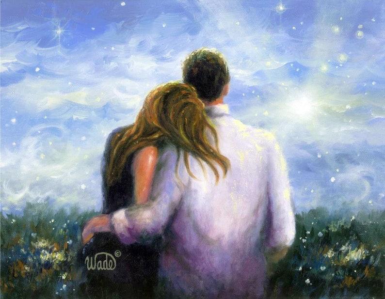 Lovers Art Print loving couple romantic couple couple in image 0