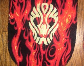 Ancestor Skull Mini Banner Gold On Flamboyant Background