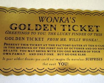 Chocolate Factory Golden Ticket Prop Replica (classic)