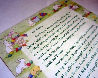 Personalized Letter from the Easter Bunny Postmarked from Egg Harbor