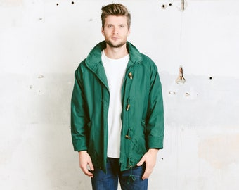 82a015bda7 Green Men Parka Jacket . Vintage Parka Coat 90s Lightweight Ski Jacket  Snowboarding Jacket Outerwear . size Large