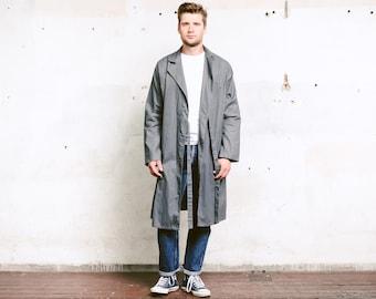 36afdcdc0017 Dead Stock dovere cappotto. Grigio anni 80 vintage work coat retrò giacca  lunga uomini workwear auto meccanico cappotto magazzino cappotto artista  cappotto. ...