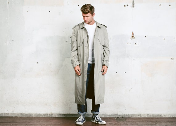 Vintage 80s Grey Duster Coat