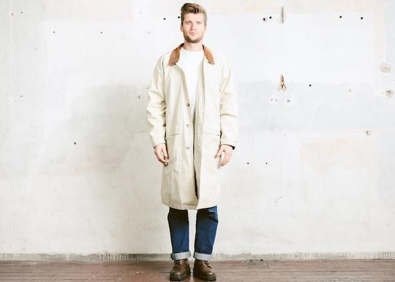 beige trench coat mens