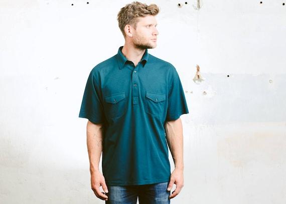 7cf5ce4ab Men Polo Shirt . Vintage Rocabilly Shirt Golf Tennis T-shirt