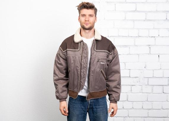 Padded Bomber Jacket . Vintage 90s Winter Jacket P