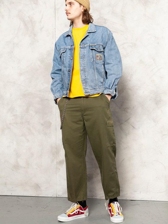 Denim Grunge Jacket vintage 80s street jean jacket