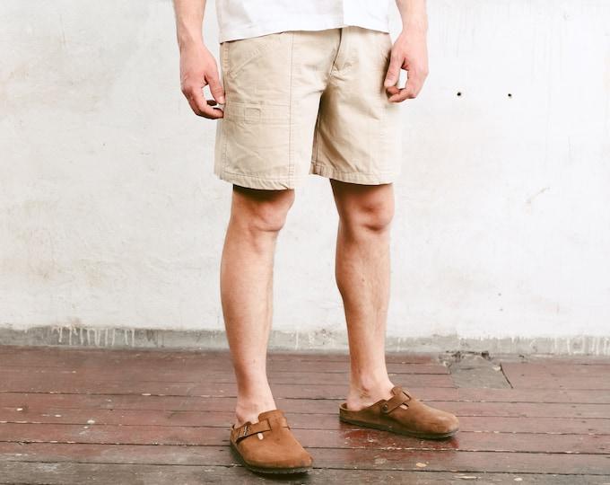 Men Utility Shorts . Men Cargo Shorts Summer Shorts Men's Casual Shorts Beige Hiking Shorts Scout Shorts Safari Shorts . size Large L