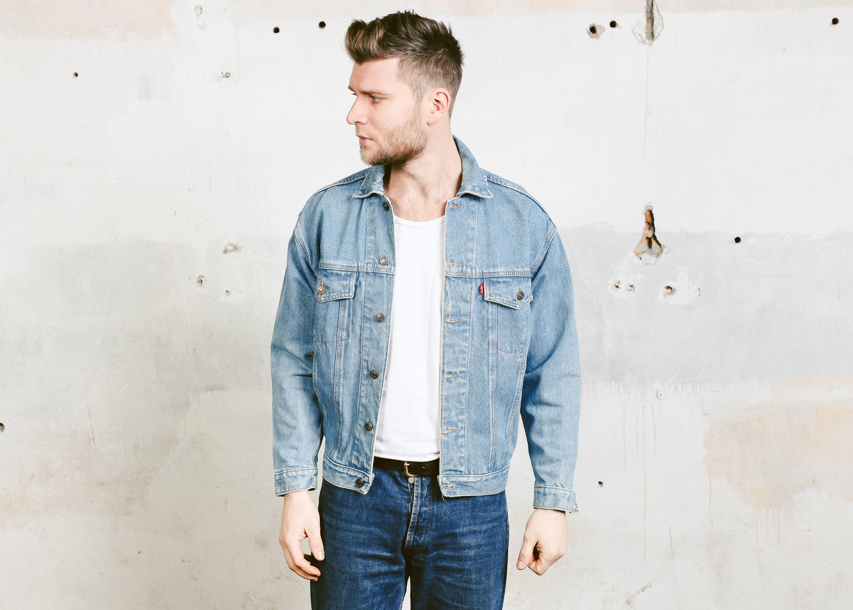 Men 80s Levis Denim Jacket Mens Jeans Jacket Vintage 80s Etsy