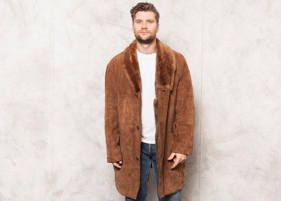 Sherpa Winter Coat Vintage 70s Light Brown Sherpa