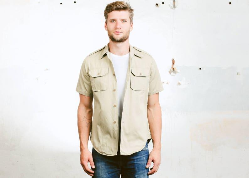 75ae44fad8 Military Safari Shirt . 80s Men s Moonrise Kingdom Work